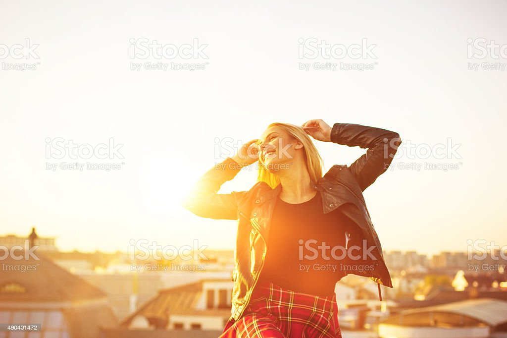 Young and free stock photo