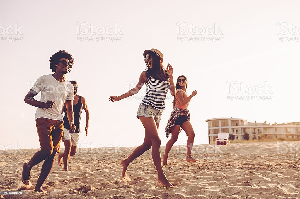 Young and free. stock photo