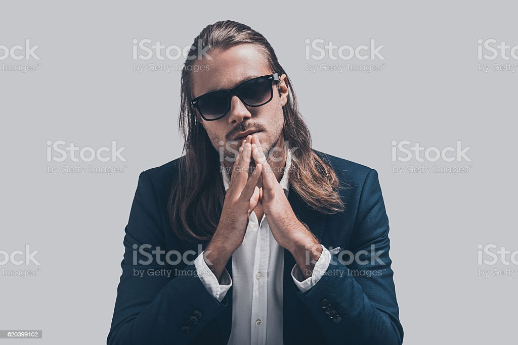 Young and full of confidence. stock photo