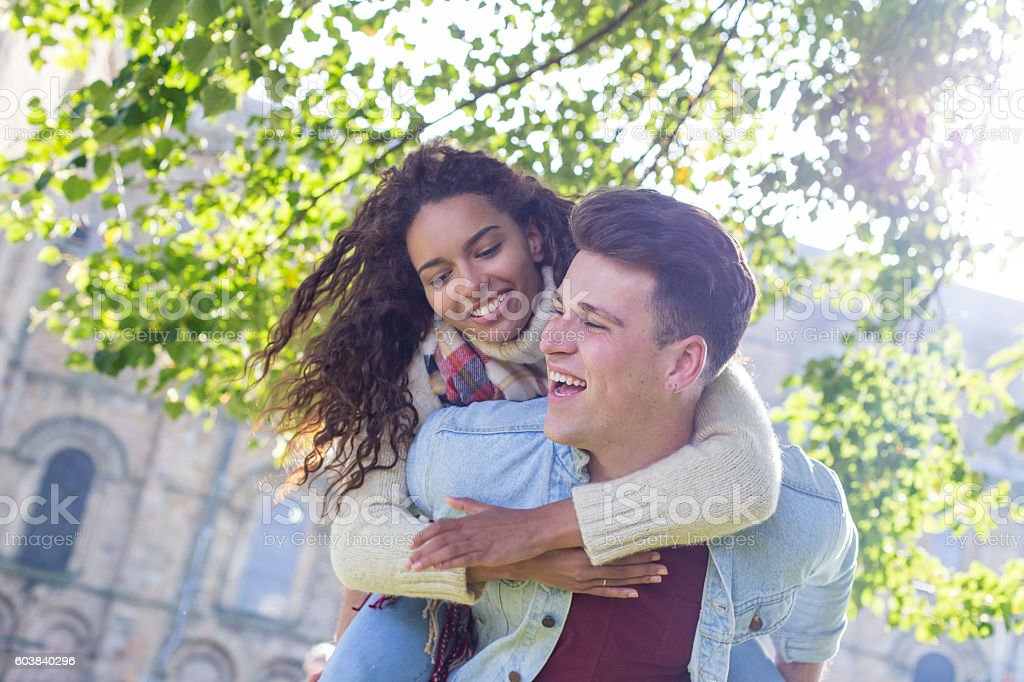 Young and Happy Lovers stock photo