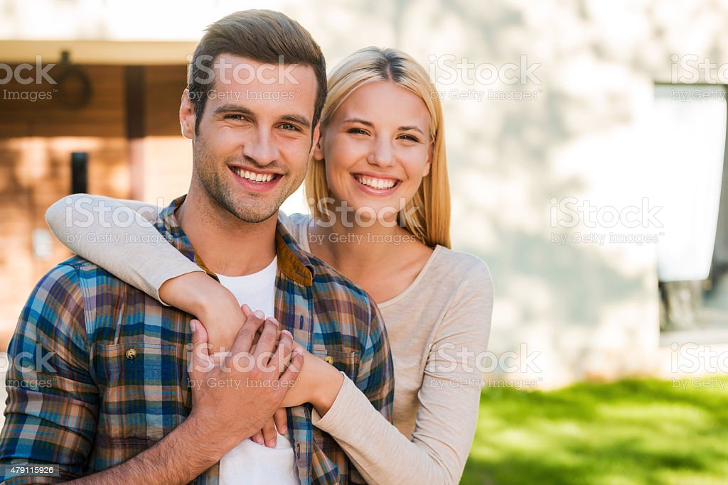 Young and in love. stock photo