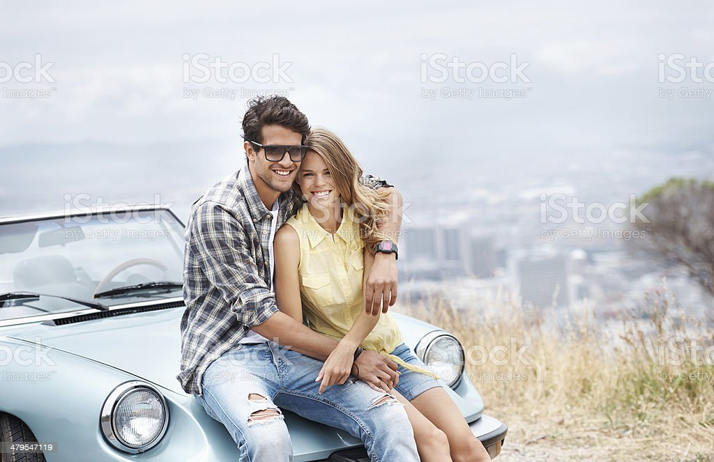 Young and in love! stock photo