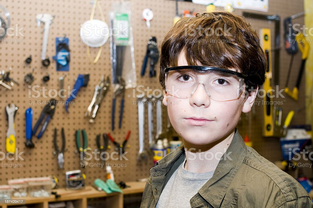 Young and Industrious royalty-free stock photo