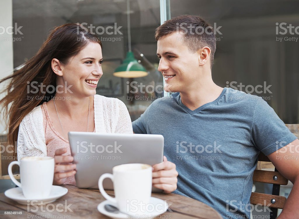 Young and madly in love stock photo