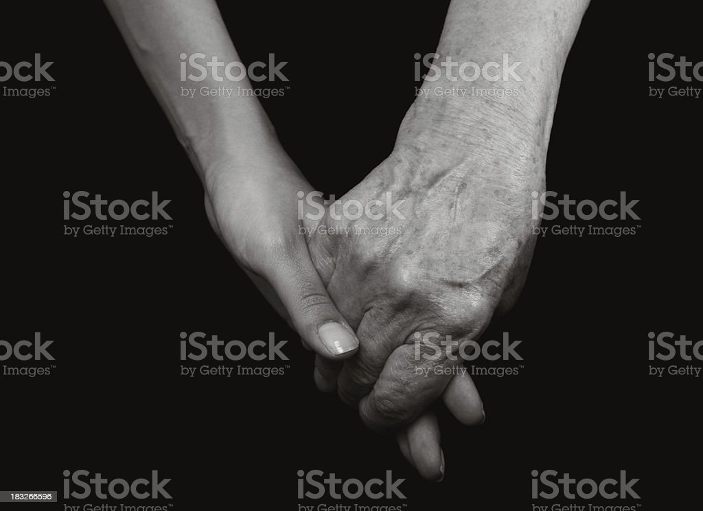 Young and Old Hands royalty-free stock photo