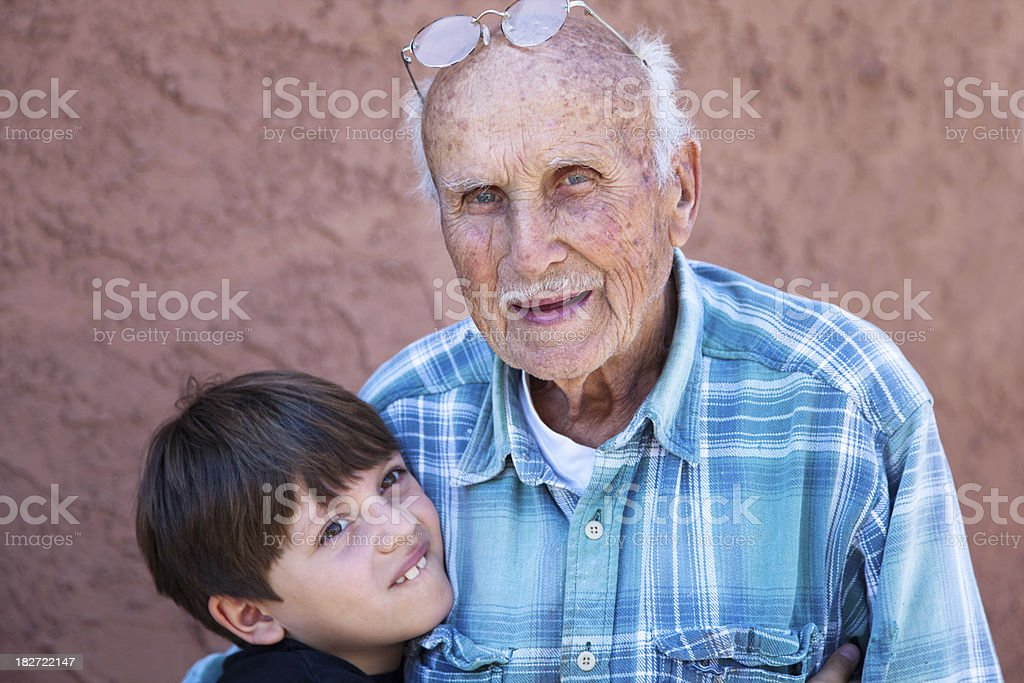 Young and Old stock photo