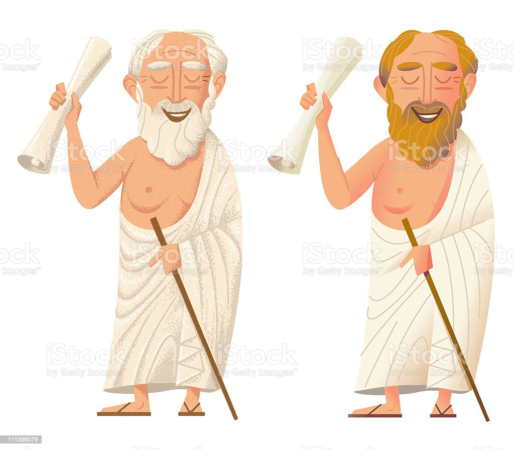 Young and Old Socrates royalty-free stock photo