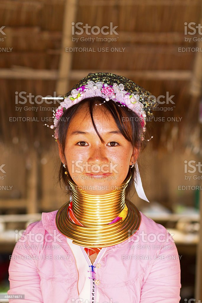 Young and pretty Karen woman royalty-free stock photo