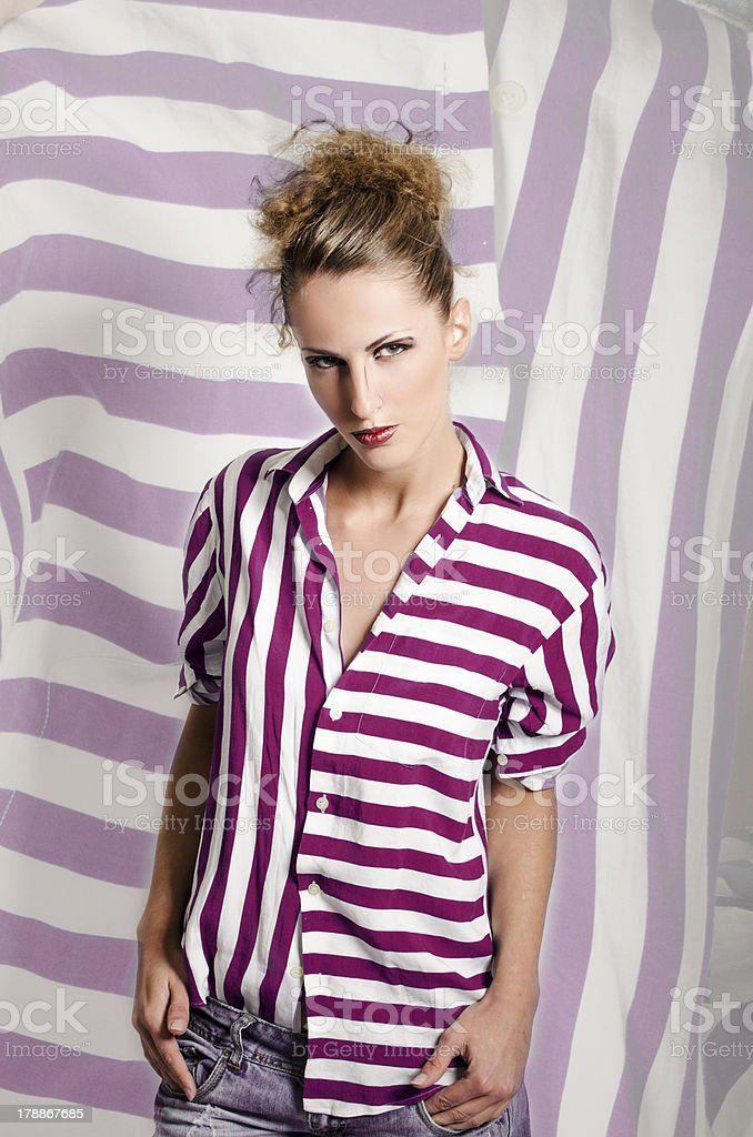 Young and serious woman royalty-free stock photo