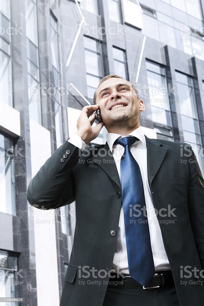 Young and successful businessman royalty-free stock photo