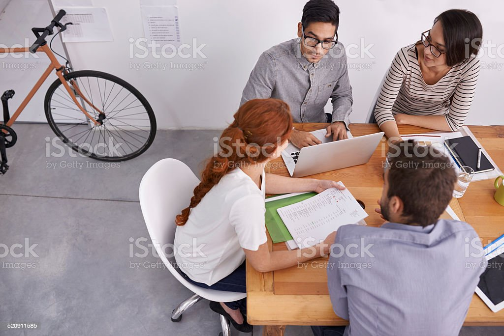Young and vibrant entrepreneurs stock photo