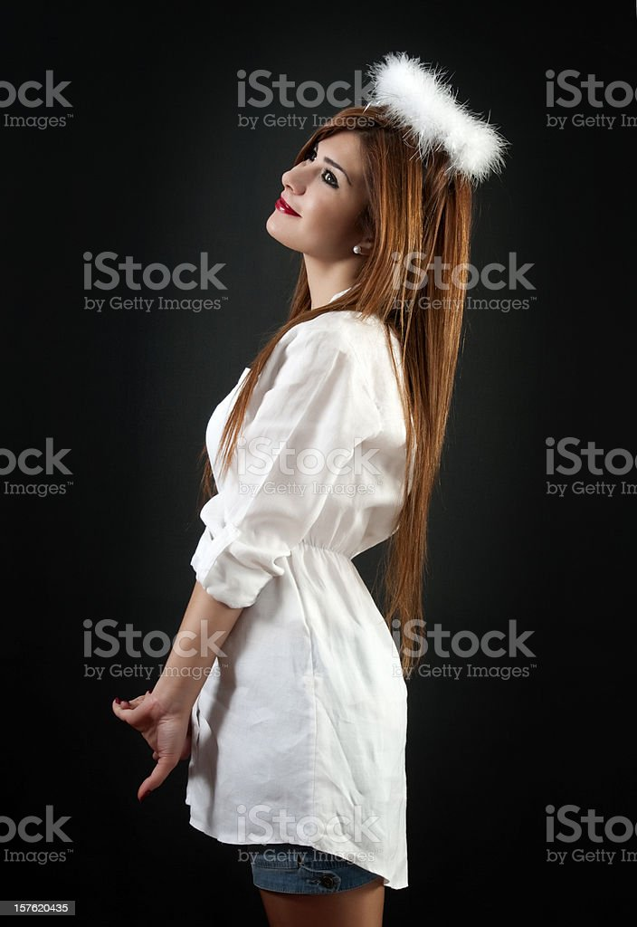 young angel stock photo