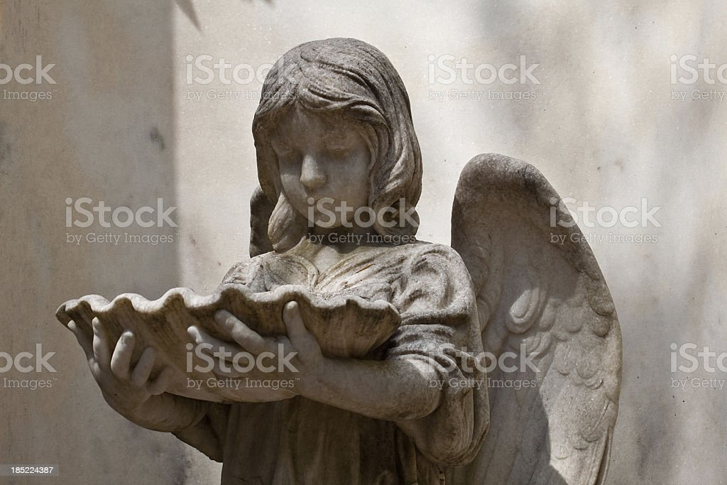 Young Angle Statue stock photo