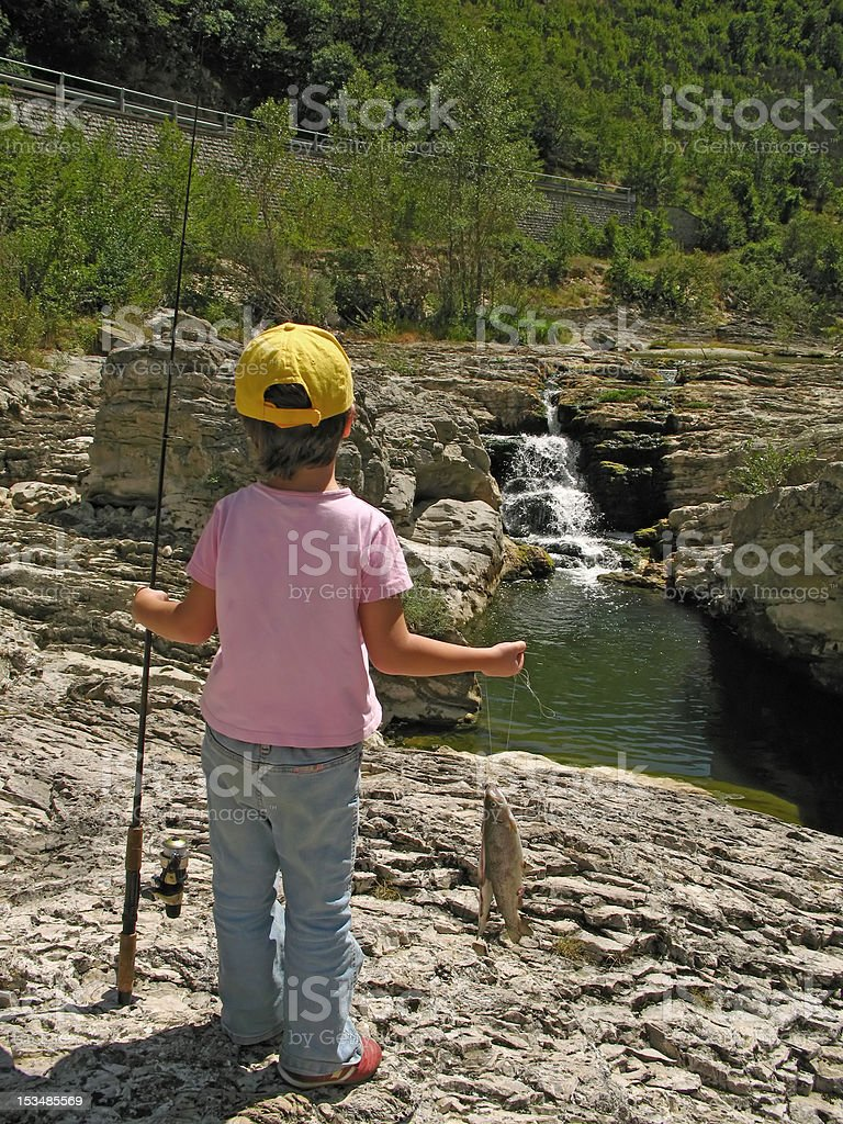 young angler royalty-free stock photo