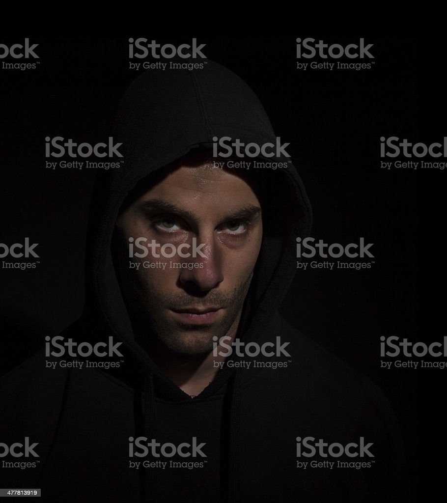Young angry man royalty-free stock photo