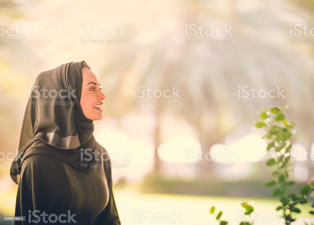 Young Arab Emarati Girl stock photo