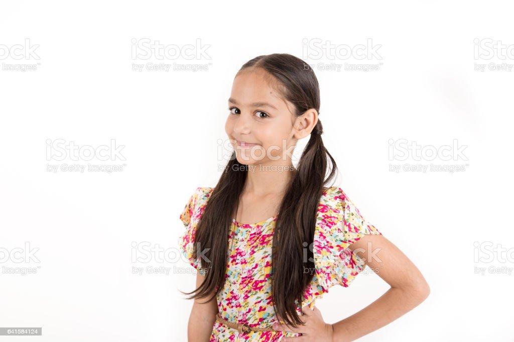 Young Arab Female Child stock photo