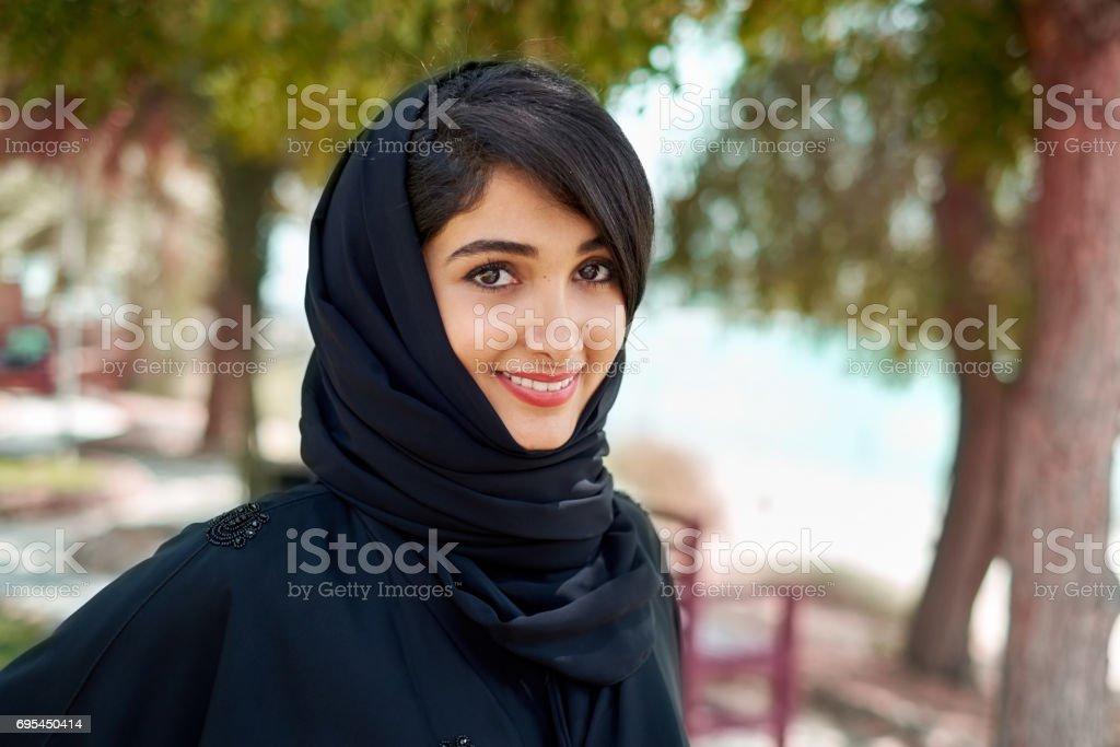 Young Arab woman stock photo