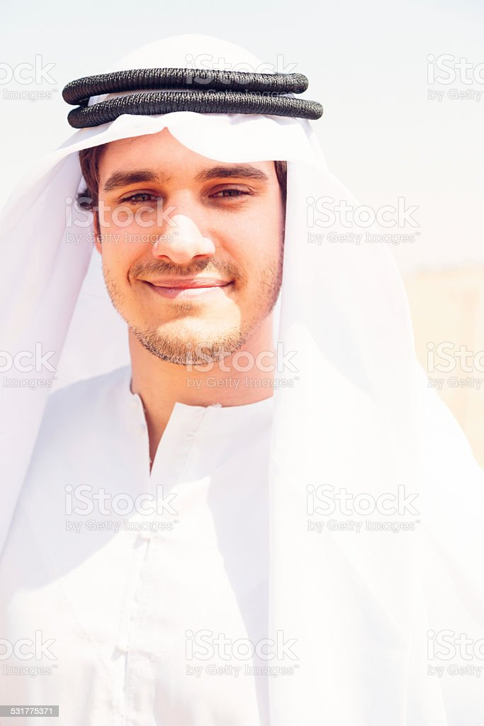 young arabian man stock photo