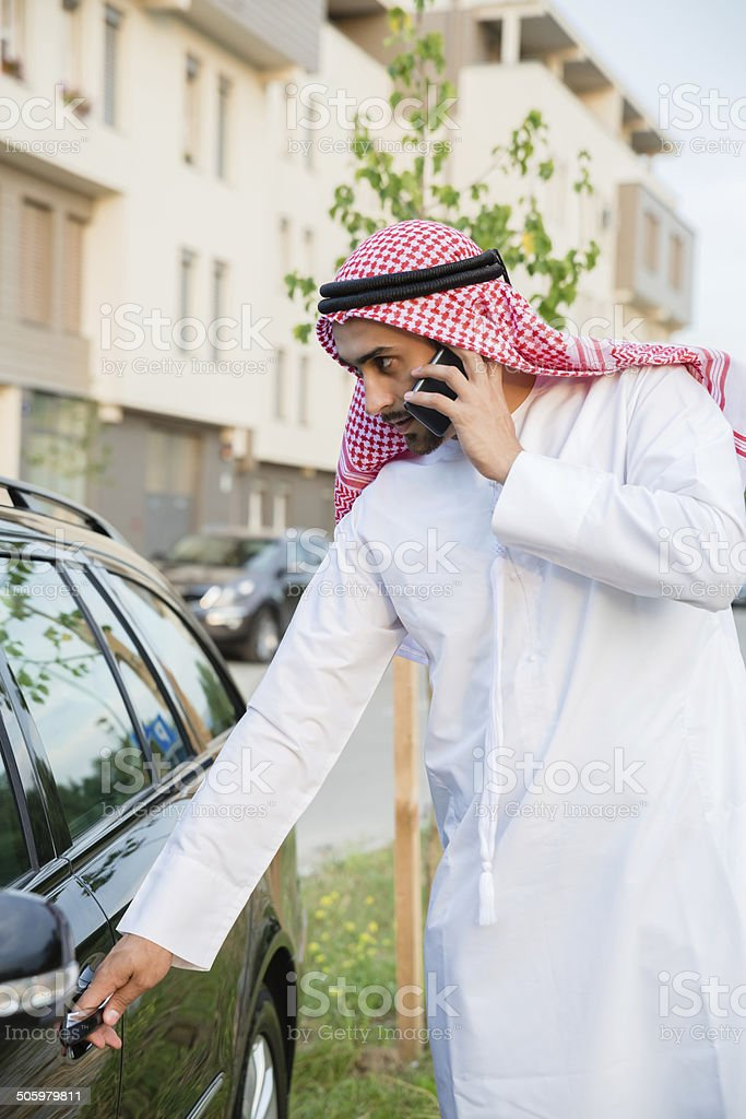 Young Arabian Next To Car royalty-free stock photo