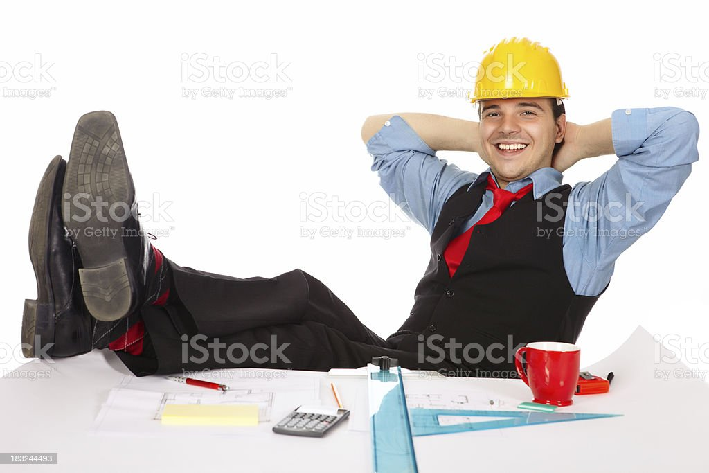 Young architect at break royalty-free stock photo