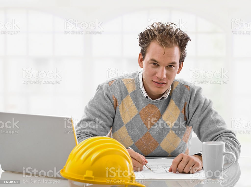 Young architect working royalty-free stock photo