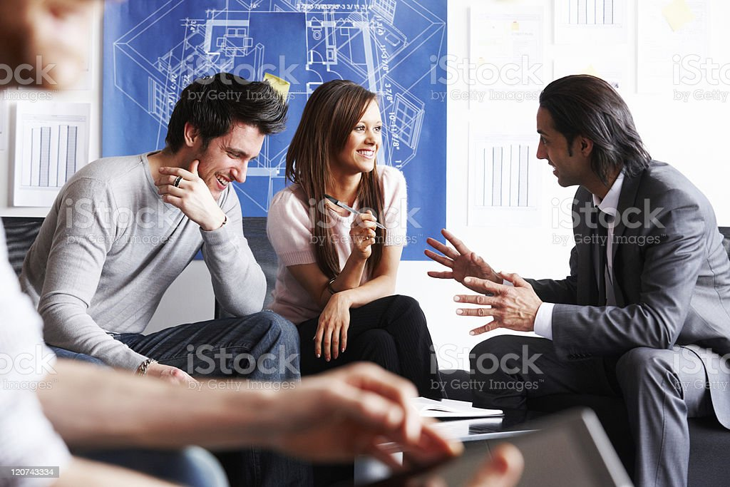 Young Architects Having a Meeting royalty-free stock photo