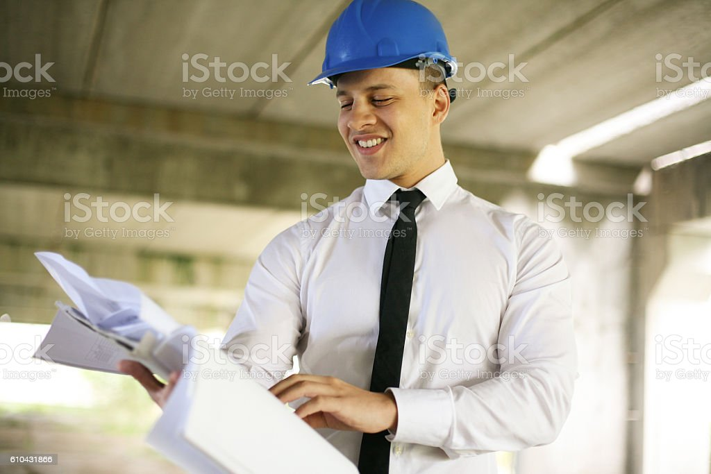Young architects. stock photo