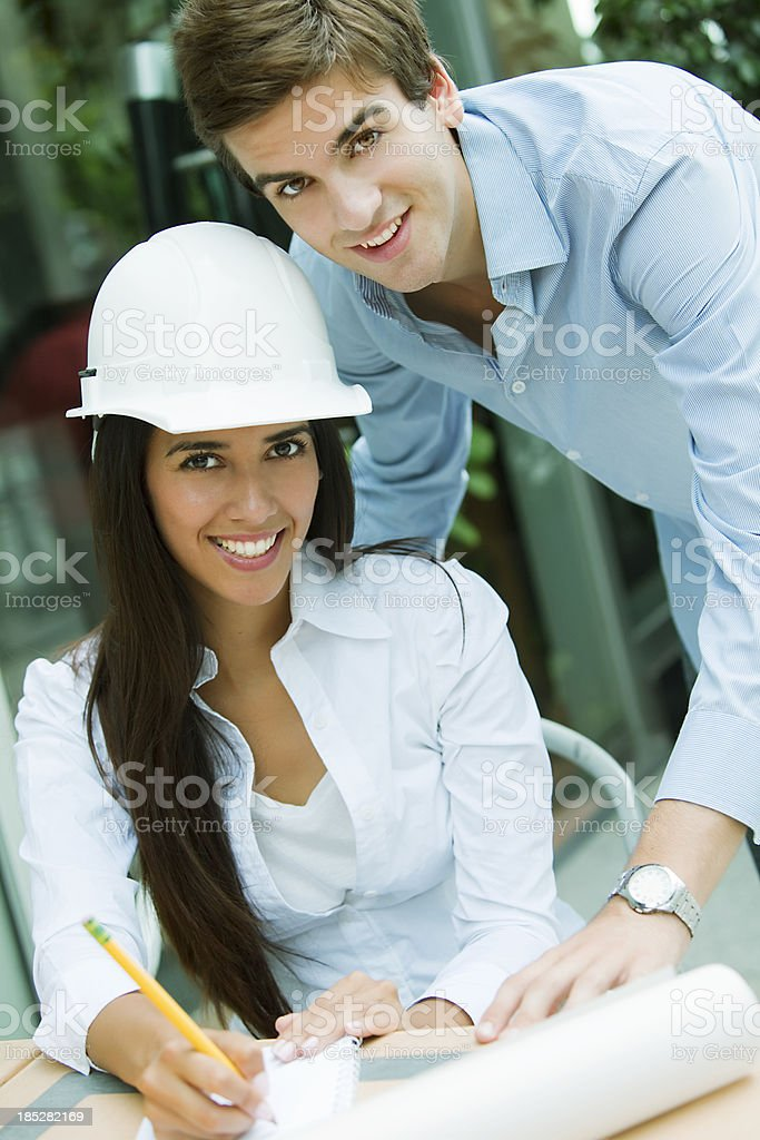 Young Architects Working royalty-free stock photo