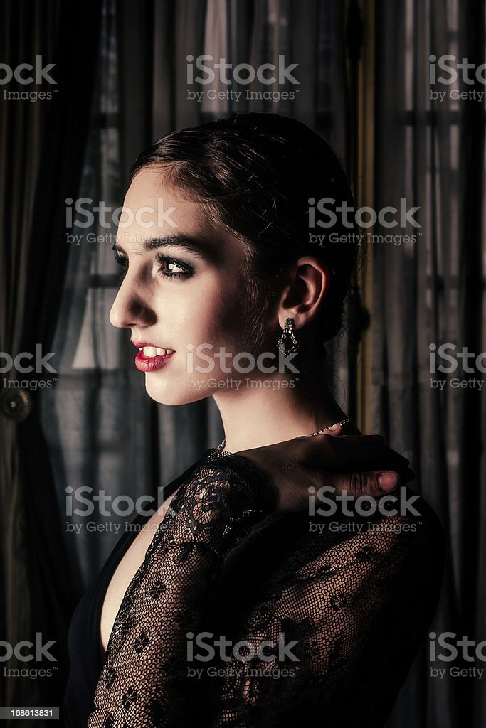 Young argentinian woman portrait royalty-free stock photo