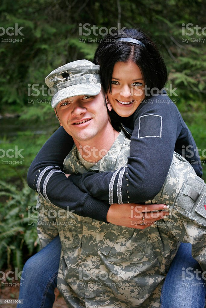 Young Army Couple royalty-free stock photo
