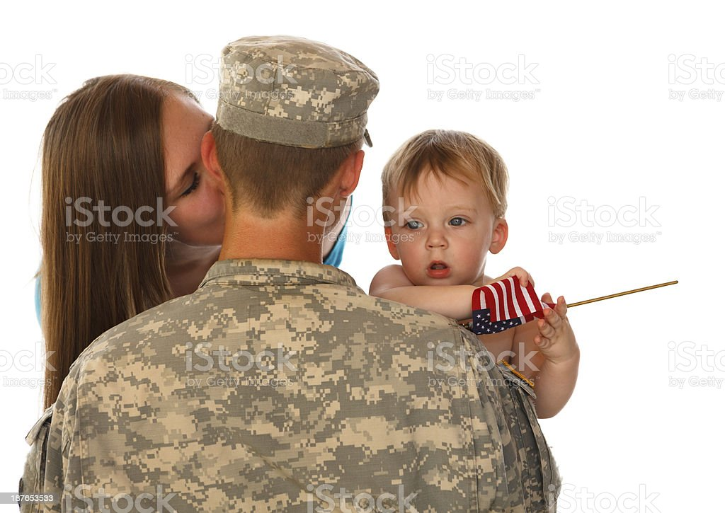 Young Army Family royalty-free stock photo