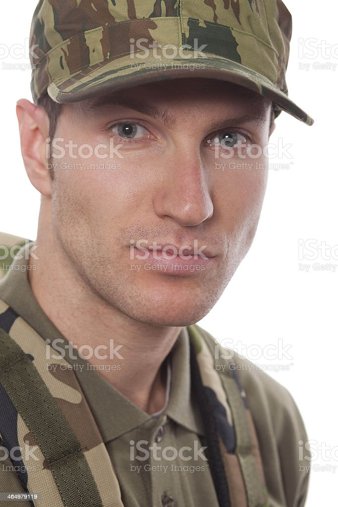 Young army soldier stock photo