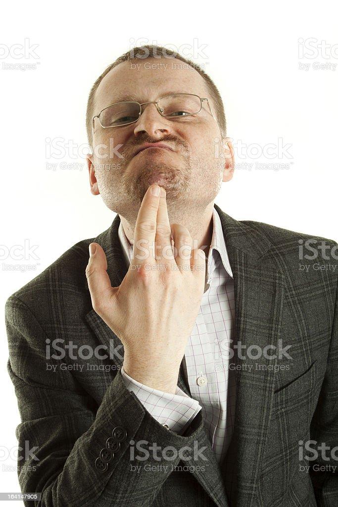 Young arrogant man royalty-free stock photo