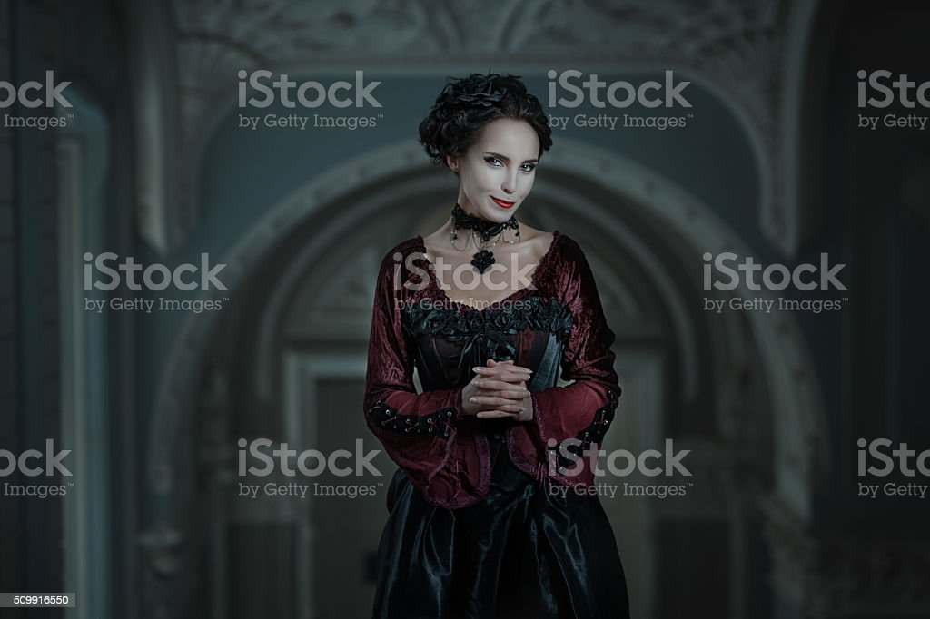 Young artful woman. stock photo