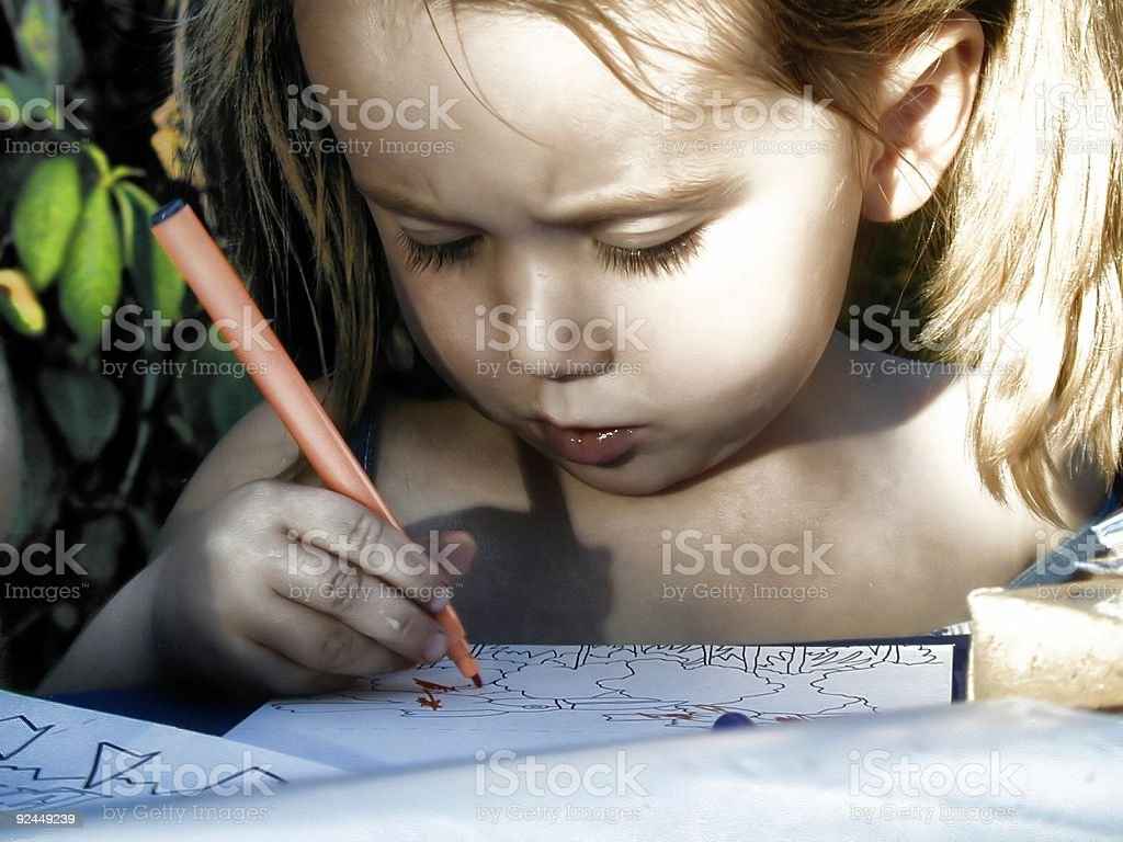 Young artist 5 royalty-free stock photo