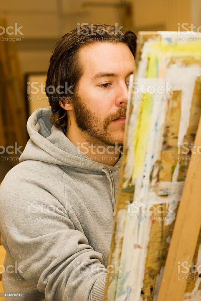 young artist drawing royalty-free stock photo