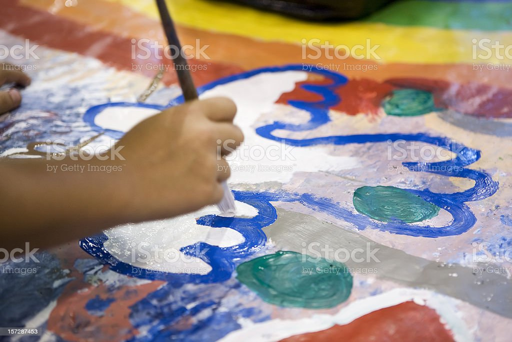 Young artist stock photo