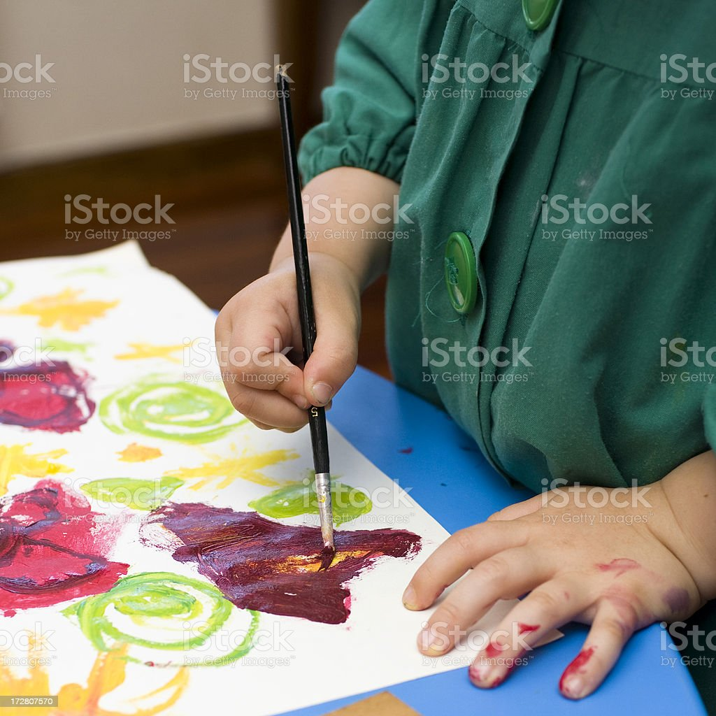 young artist royalty-free stock photo