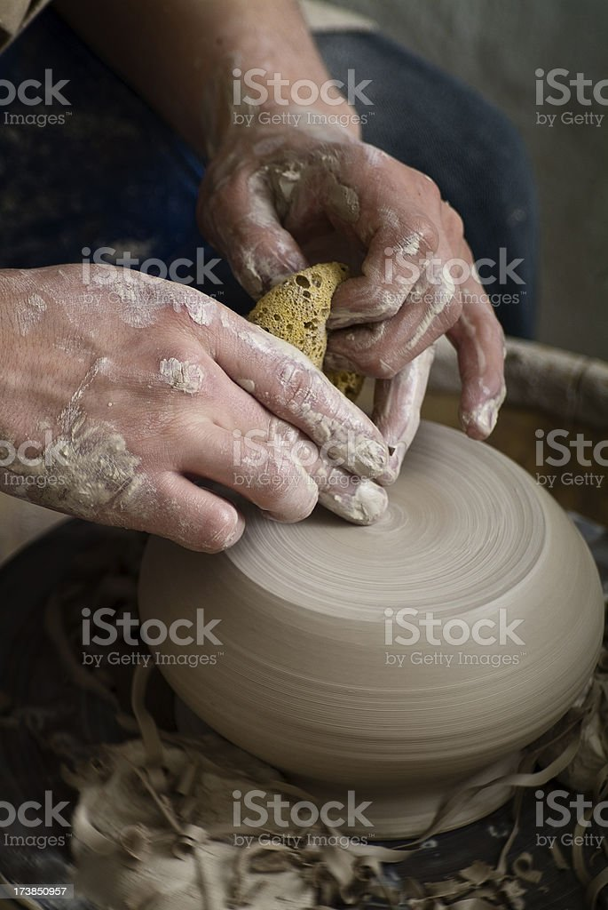 Young Artist spinning Bowl royalty-free stock photo