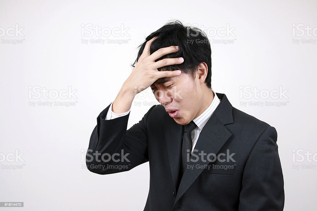 Young Asian Business man stressed royalty-free stock photo