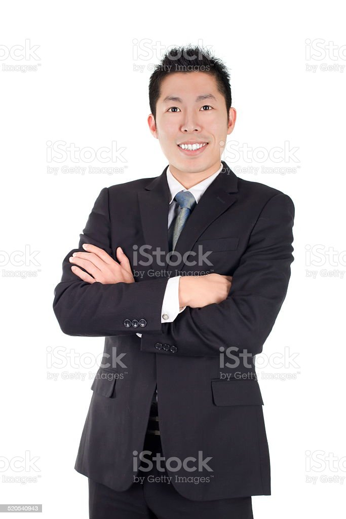 young asian business smile stock photo