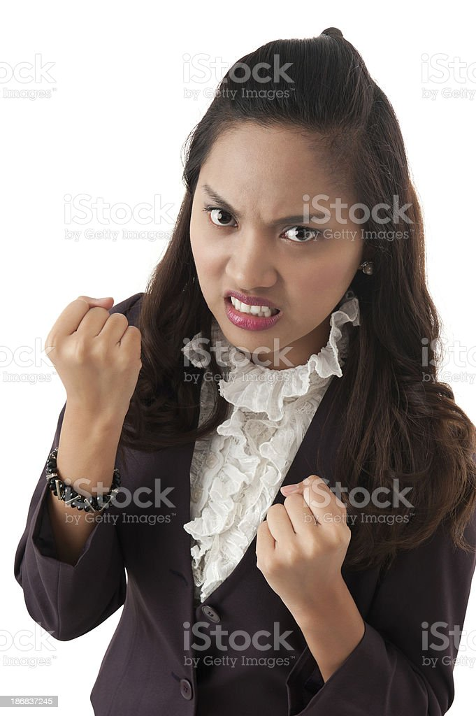 Young Asian business woman stock photo