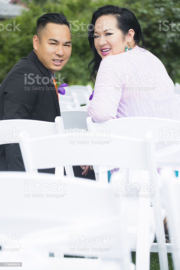 Young asian couple portrait royalty-free stock photo