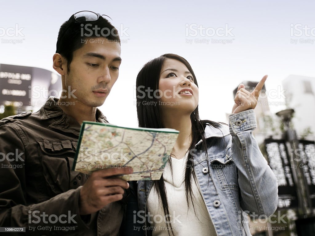 Young Asian Couple Sightseeing royalty-free stock photo