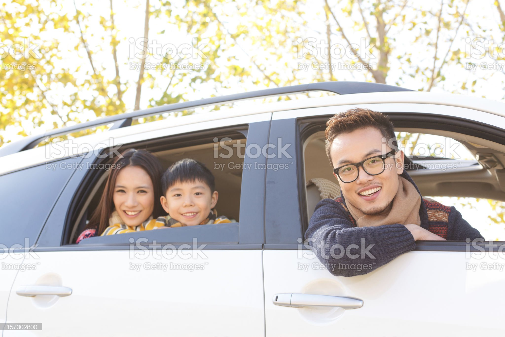 young asian Family Travel royalty-free stock photo