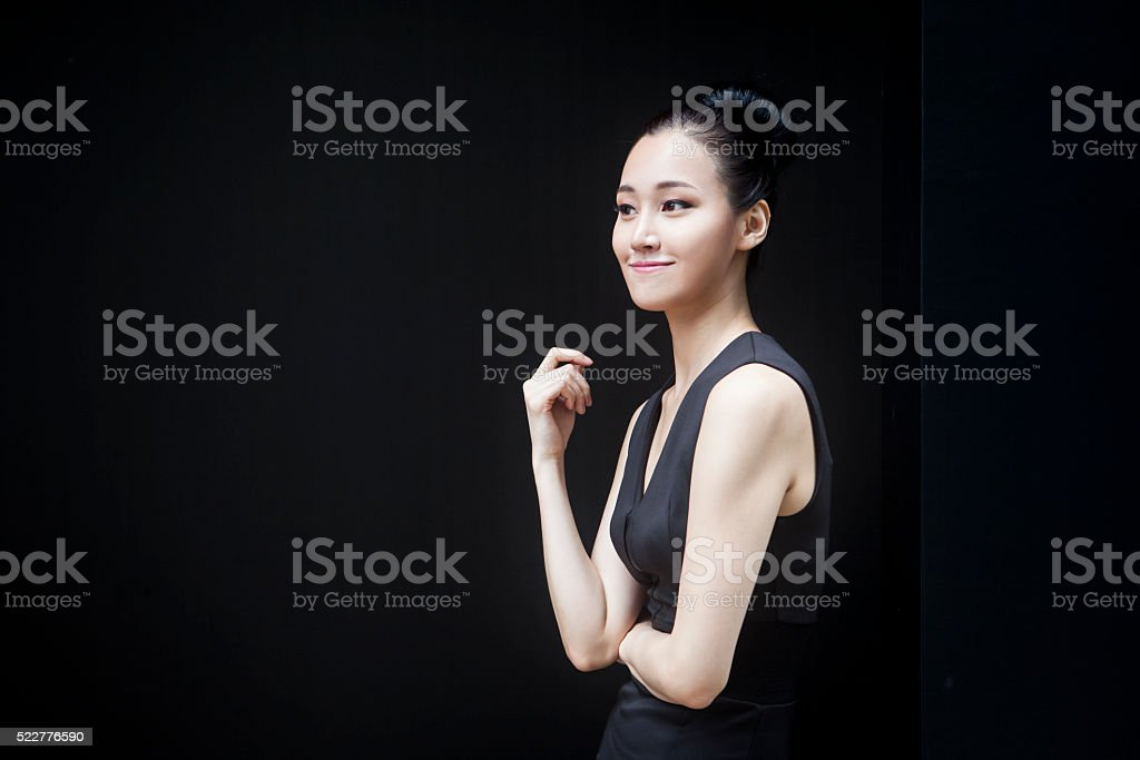 Young Asian Female: A Definite High Achiever! stock photo