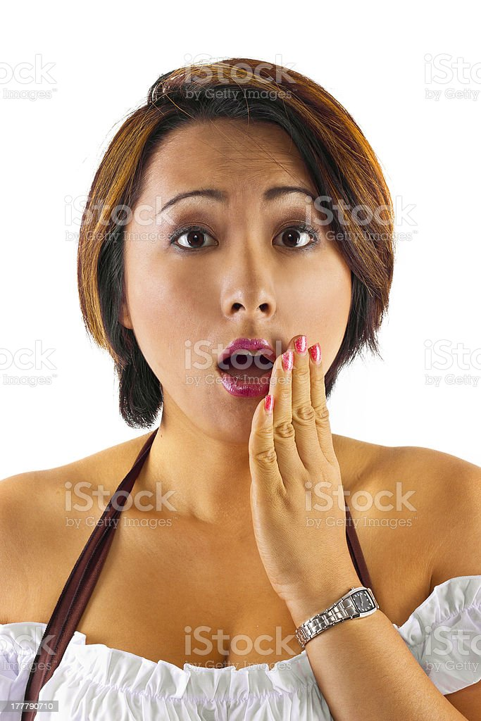 Young Asian Female with a Surprised Look royalty-free stock photo