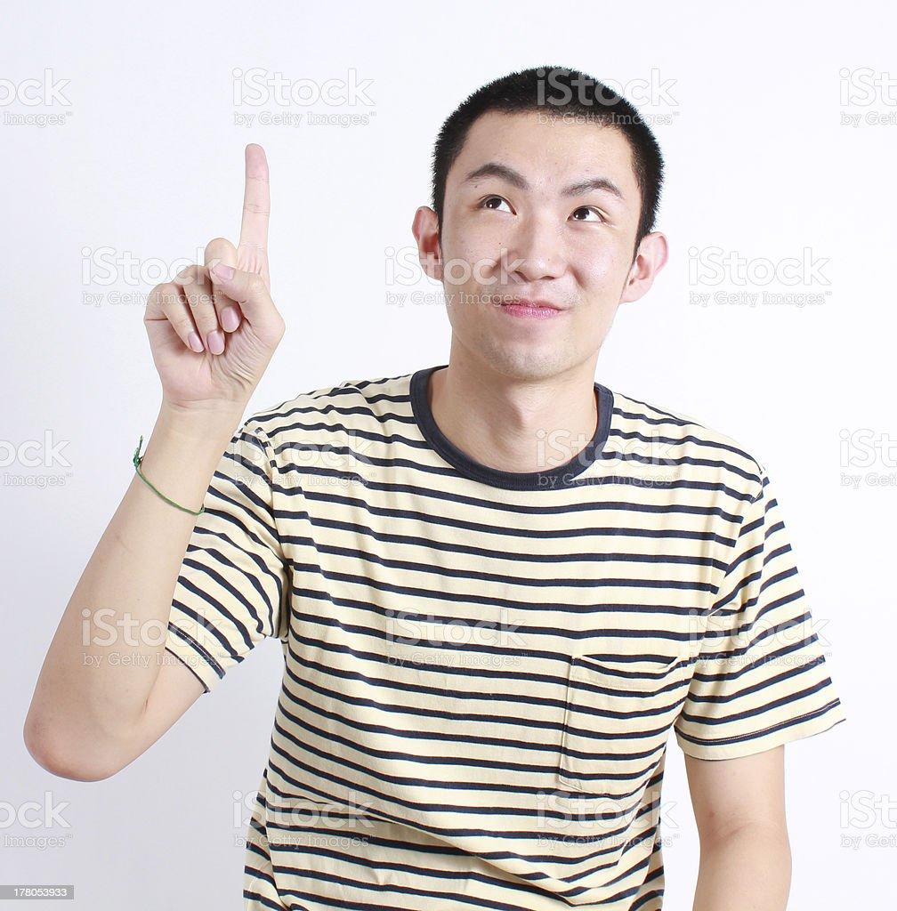 Junger asiatischer Mann Lizenzfreies stock-foto