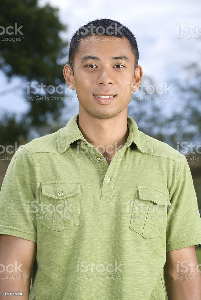 Young Asian man portrait. royalty-free stock photo